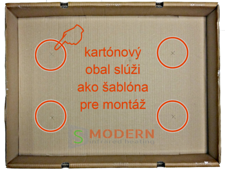 šablona pre montáž infrapanelov SMODERN