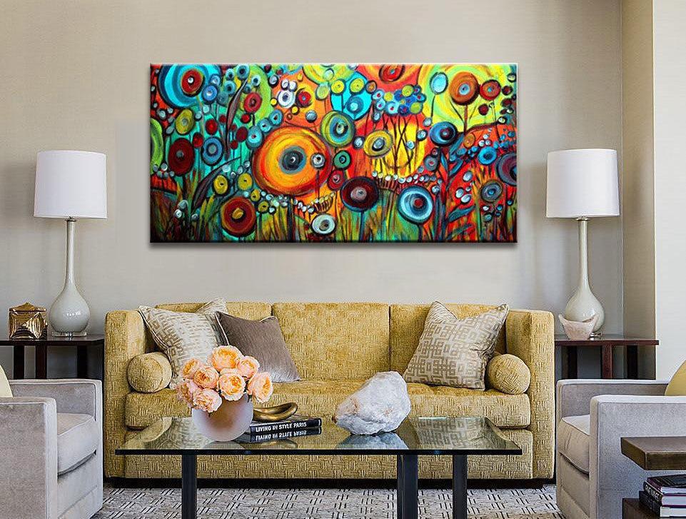 infrapanely s modern s motívom obývačka