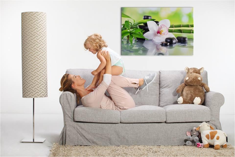 infrapanely s modern obývačka s motívom